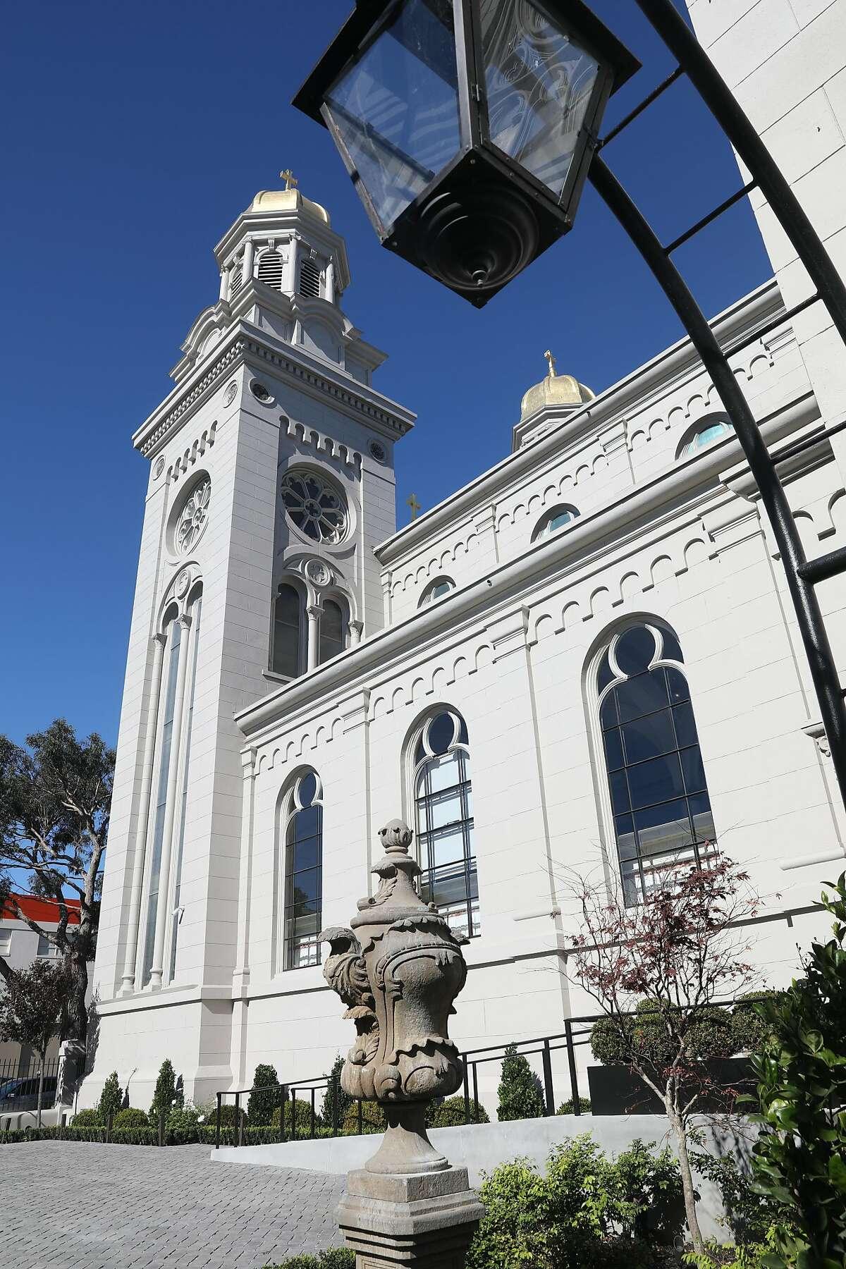 Saint Joseph's Arts Society seen from the garden area on Tuesday, Oct. 16, 2018, in San Francisco, Calif.