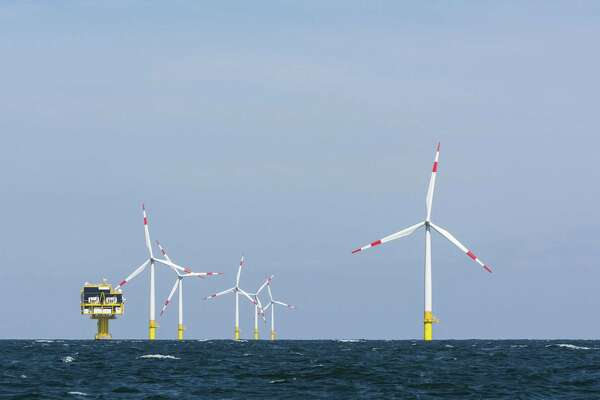 German offshore wind farm and substation in the Baltic Sea. Renewable energy sources account for 36 percent of Germany's power mix. (Dreamstime)
