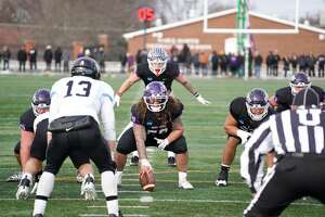 Mount Union is looking to repeat as the Division III nation champion on Friday in the Stagg Bowl against Mary Hardin-Baylor at Woodforest Bank Stadium. The game is a homecoming for offensive lineman Joey Presutti (center), who played at Oak Ridge High School.