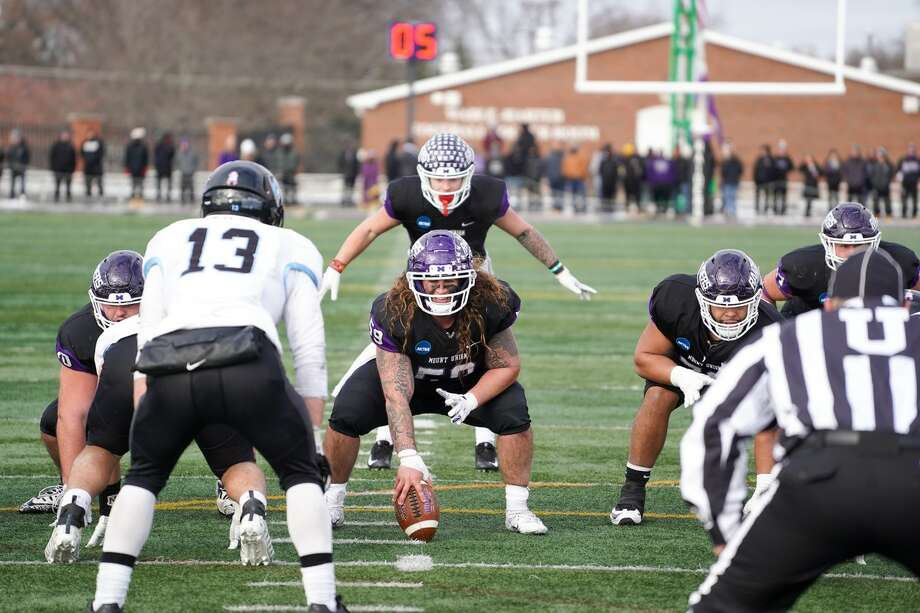Mount Union is looking to repeat as the Division III nation champion on Friday in the Stagg Bowl against Mary Hardin-Baylor at Woodforest Bank Stadium. The game is a homecoming for offensive lineman Joey Presutti (center), who played at Oak Ridge High School. Photo: Dan Poel
