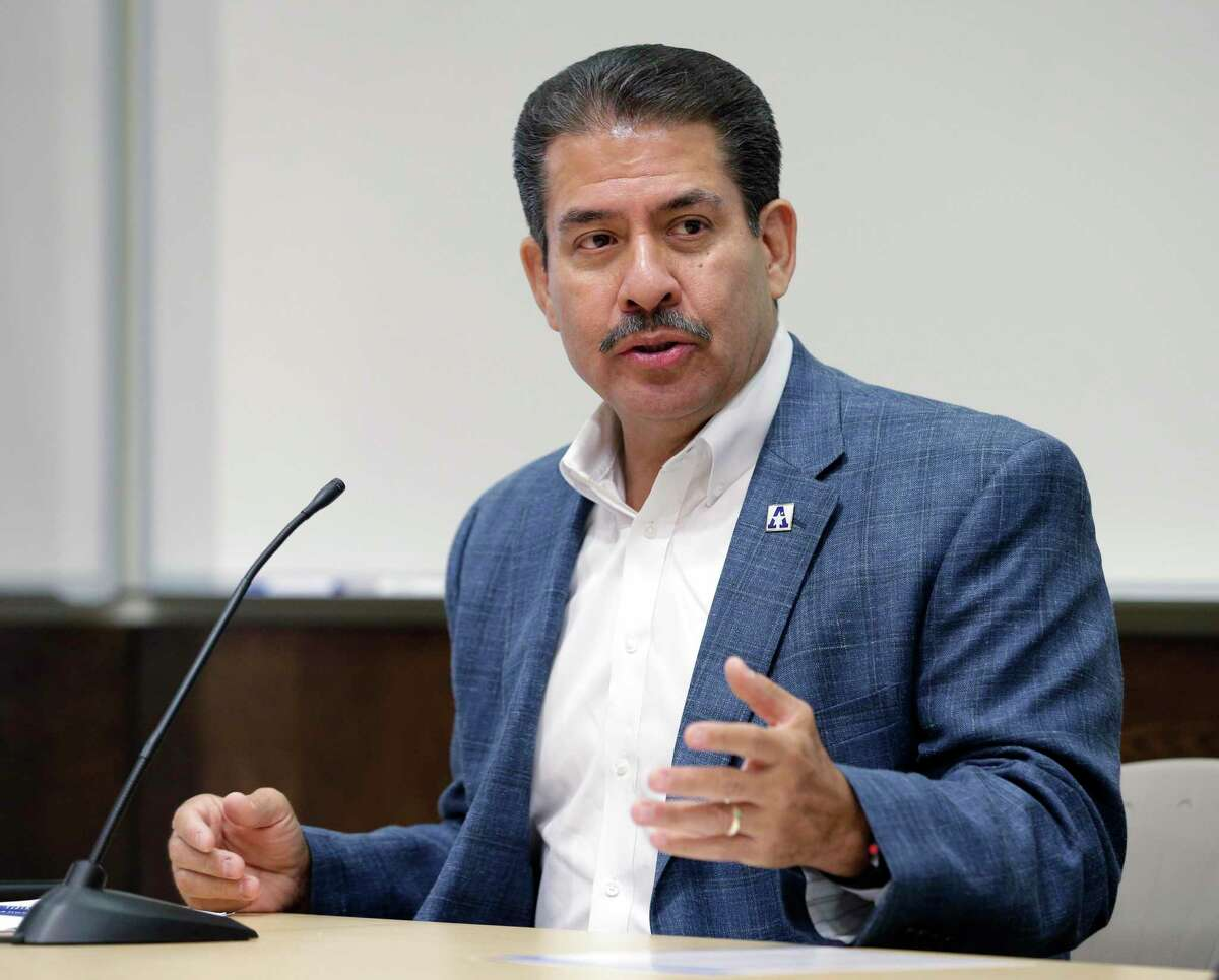 Harris County Precinct 2 Commissioner Adrian Garcia, shown here in 2018, is calling for a study of the county constables' contract deputy program, with an eye toward cost savings.