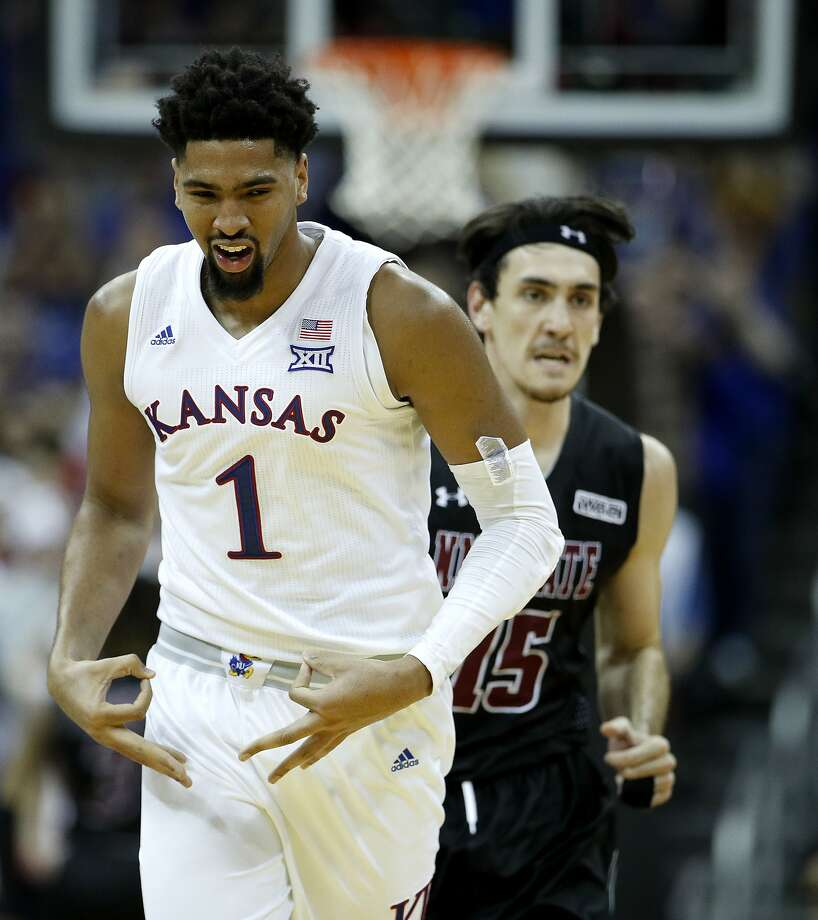 Kansas' Dedric Lawson scored 20 points and had 10 rebounds Saturday as the Jayhawks held off New Mexico State 63-60. Kansas returned to the No. 1 spot in the country Monday. Photo: Charlie Riedel / Associated Press
