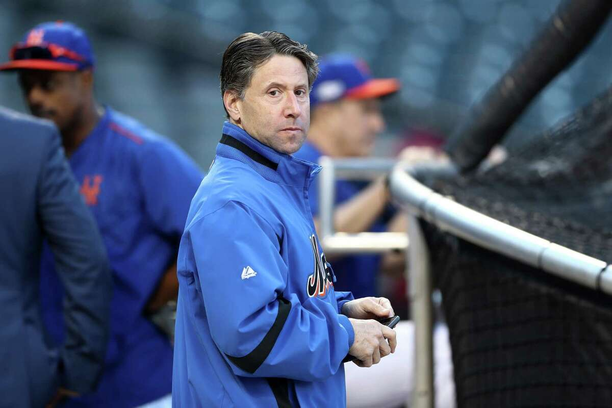NEW YORK, NY - OCTOBER 05: Jeff Wilpon, COO of the New York Mets, looks on prior to their National League Wild Card game against the San Francisco Giants at Citi Field on October 5, 2016 in New York City. (Photo by Elsa/Getty Images) ORG XMIT: 674214681