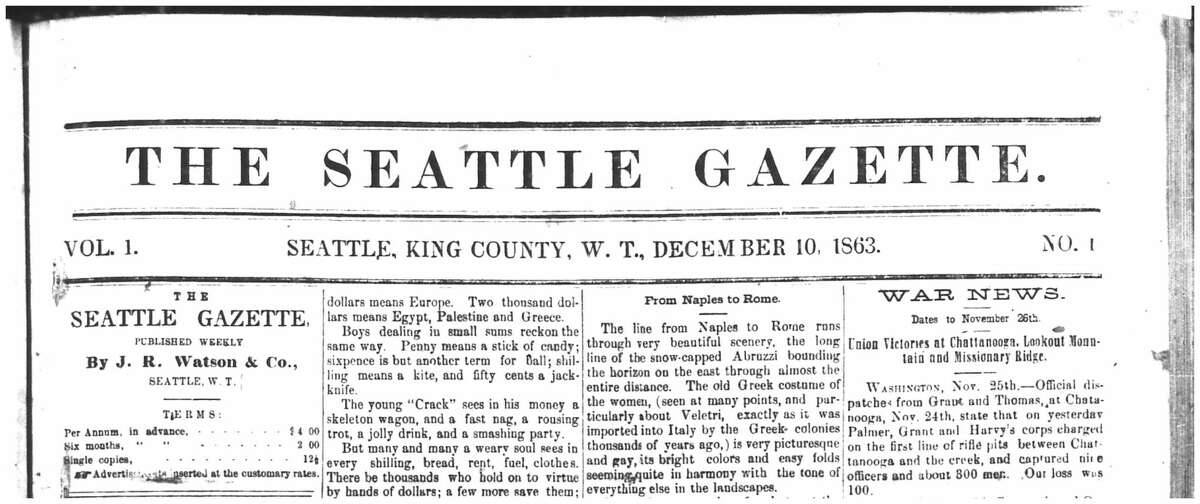 The paper had four pages, dense type and no photos. In addition to publisher, Watson wore the hats of the Gazette's editor and lone reporter for a time.