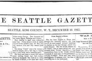 The Gazette, which ran weekly, initially cost 12 cents.