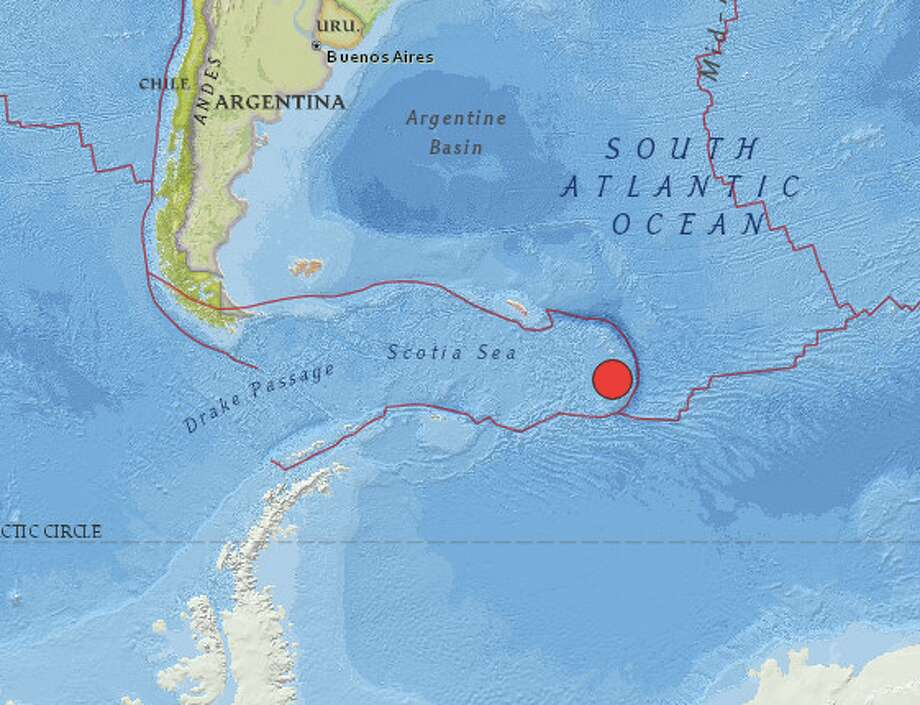 The United States Geological Survey reports a preliminary magnitude 7.3 earthquake struck near Bristol Island, South Sandwich Islands on Tuesday. Photo: USGS