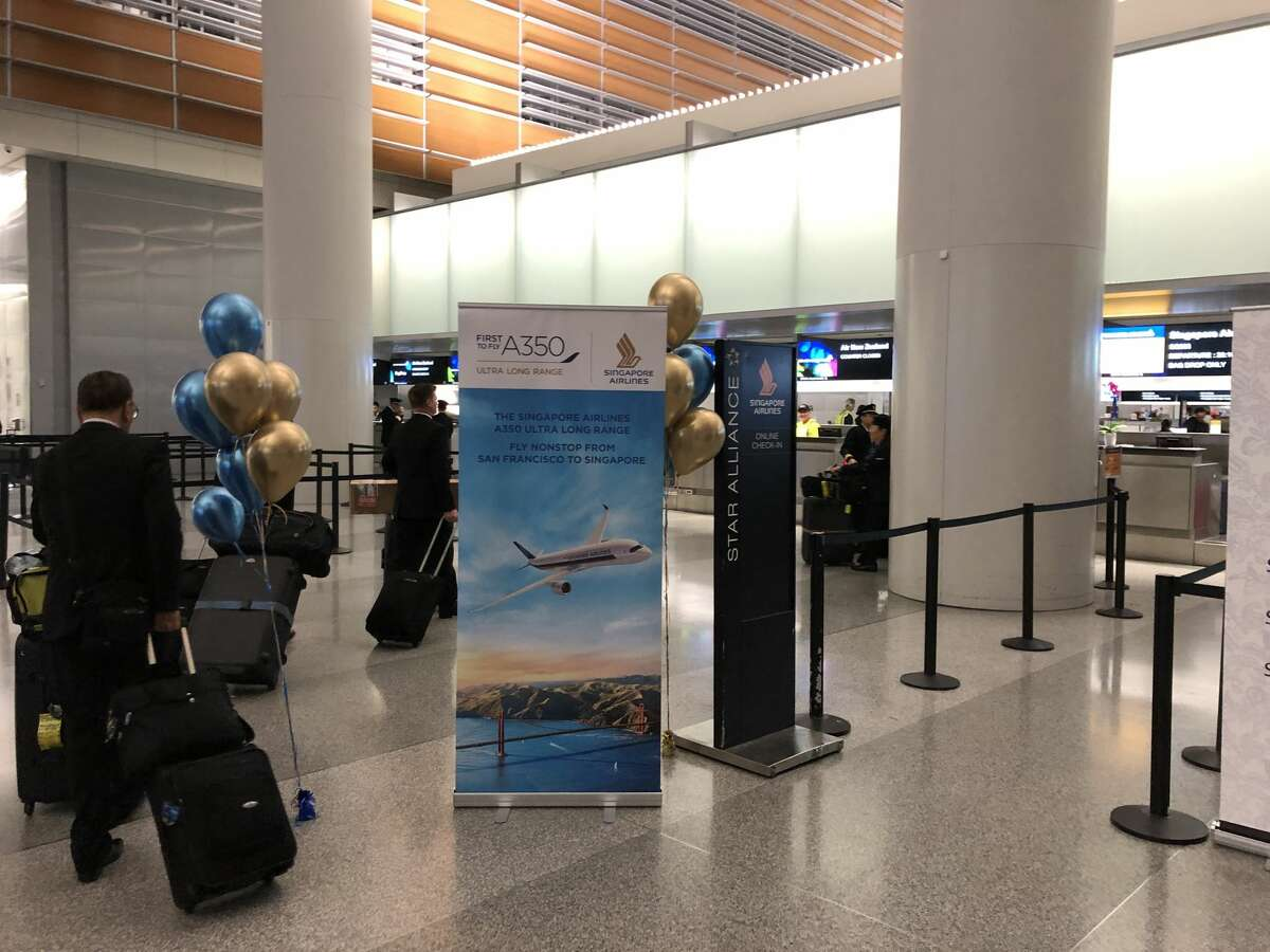 Check-in at the SFO International Terminal