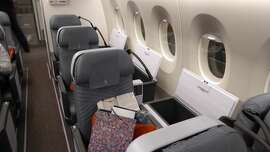 The solo seats at the rear of the A350-900ULR (rows 40 to 42)