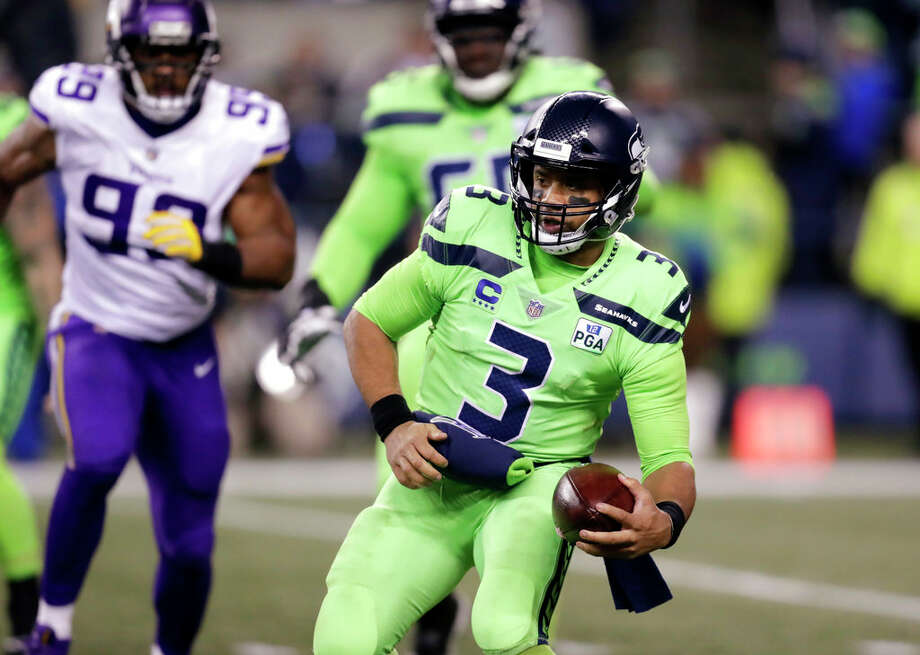 Seahawks quarterback Russell Wilson has partnered with A-Rod and local entrepreneurs to bring a new yoga studios line to Washington state. Photo: Stephen Brashear/AP / Copyright 2018 The Associated Press. All rights reserved.