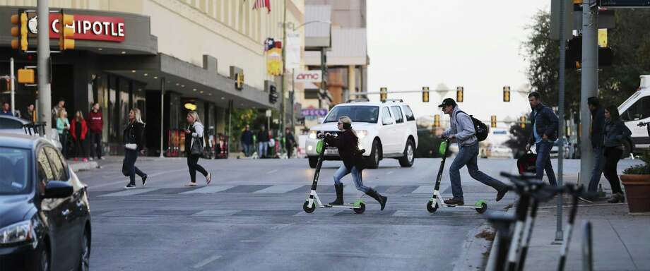 Dodging scooters during daily commutes 