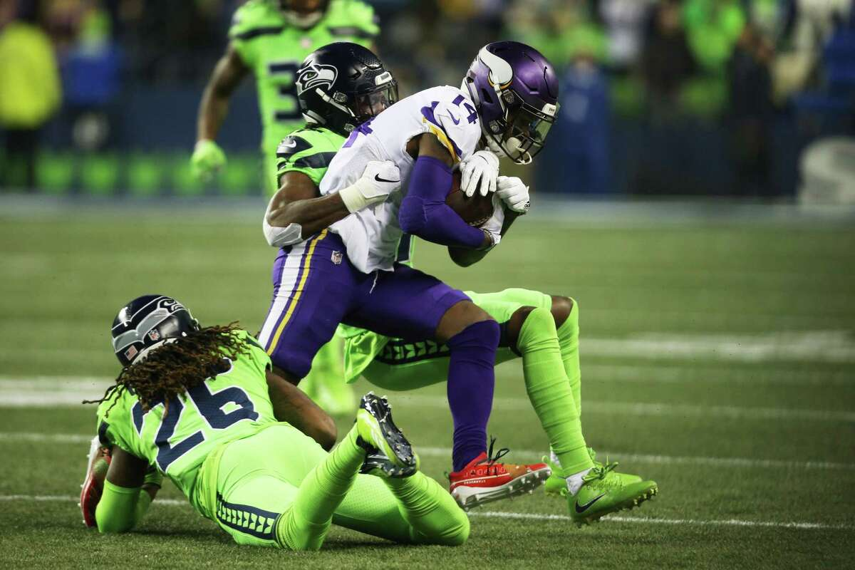 SEAHAWKS' SECONDARY WON BATTLE VS. THIELEN, DIGGS The Vikings' dynamic receiving tandem of Adam Thielen and Stefon Diggs were essentially ineffective until the second half of Monday's game. Thielen, who ranks seventh in the NFL in receiving yards, didn't get a target until the third quarter. Seahawk cornerbacks Tre Flowers and Shaquill Griffin had their best joint effort of the season: 15 combined tackles, three pass deflections and a tackle for loss. Thielen and Diggs combined for nine receptions and 146 yards in the Vikings' loss.