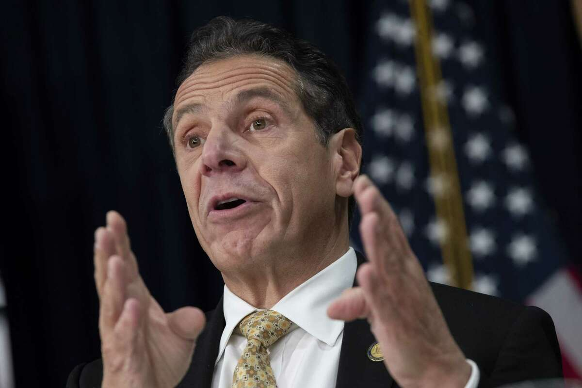 NEW YORK, NY - NOVEMBER 13: New York Governor Andrew Cuomo speaks during a press conference to discuss Amazon's decision to bring a new corporate location to New York City, November 13, 2018 in New York City. Amazon announced earlier in the day that it has chosen Arlington, Virginia and Long Island City in Queens as the two locations, which will both serve as additional headquarters for the company. Amazon says each location will create 25,000 jobs. (Photo by Drew Angerer/Getty Images)