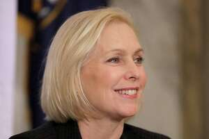WASHINGTON, DC - NOVEMBER 14: Sen. Kirsten Gillibrand (D-NY) attends a post-midterm election meeting of Rev. Al Sharpton's National Action Network in the Kennedy Caucus Room at the Russell Senate Office Building on Capitol Hill November 14, 2018 in Washington, DC. Politicians believed to be considering a run for the 2020 Democratic party nomination, including Sen. Elizabeth Warren (D-MA) and Sen. Kamala Harris (D-CA), addressed the network meeting as well as House members vying for leadership positions. (Photo by Chip Somodevilla/Getty Images)