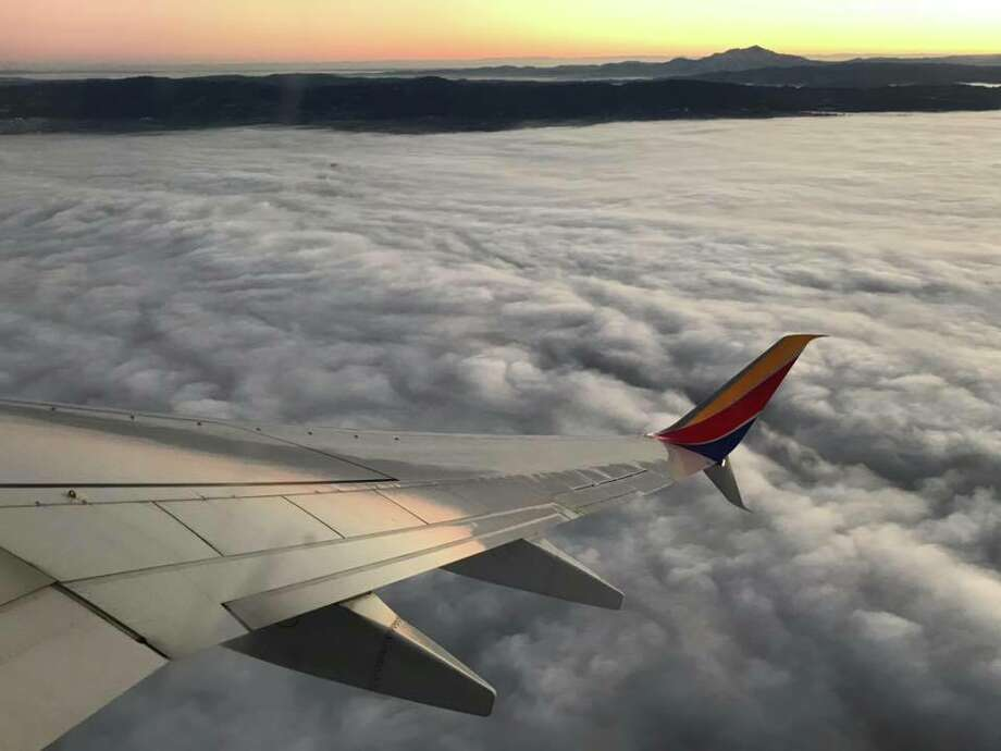 Mount Diablo peeks out of the fog enveloping the Bay Area on Dec. 11, 2018. Photo: Brandon Mercer / SFGate