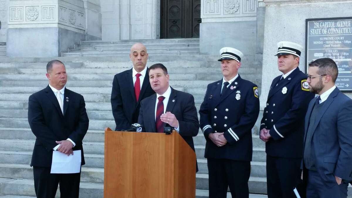 New Haven's firefighters union Local 825 announced in March the filing of a four-count lawsuit against the Uniformed Professional Fire Fighters Association of Connecticut.