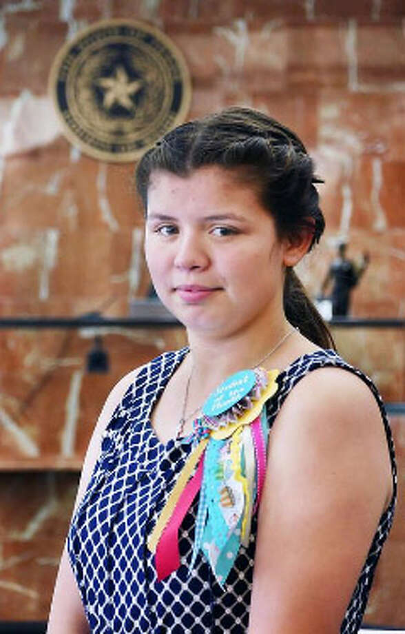 Sixteen-year-old Alexis was recognized as Student of the Month by Associate Judge Selina L. Mireles on Monday. She is a foster child looking for a permanent home. Photo: Cuate Santos /Laredo Morning Times