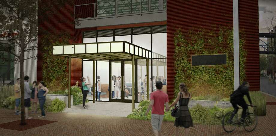 A rendering by the Austin firm Clayton & Little Architects of the front entrance of Savor, the Culinary Institute of America-San Antonio's new student-staffed restaurant scheduled to open in January at the former Sandbar Fishhouse & Market location at the Pearl. Photo: Clayton & Little Architects