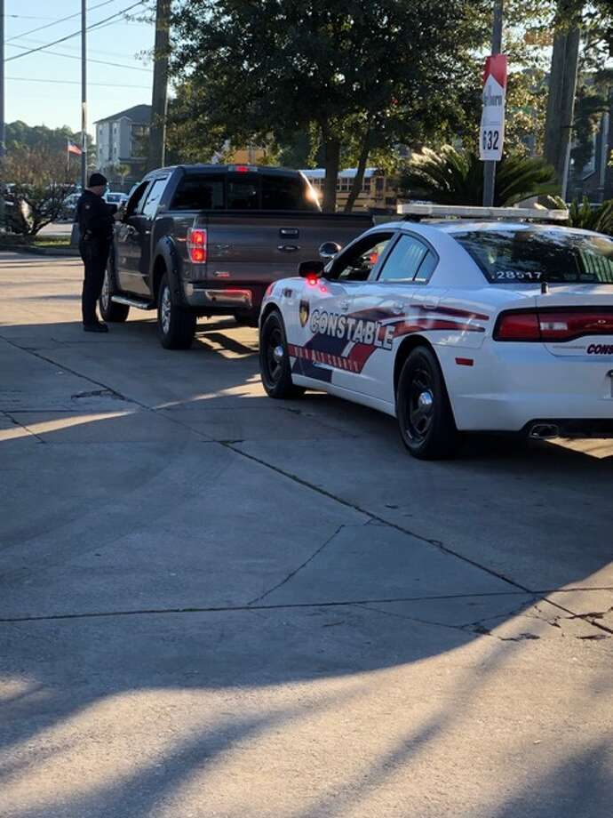 Harris County Precinct 4 Constable's Office deputies and Klein ISD police officers conduct traffic stops on driver who allegedly drove past school buses while they were loading and unloading students during the week of Dec. 3, 2018. Photo: Harris County Precinct 4 Constable's Office