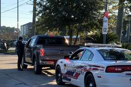 Harris County Precinct 4 Constable's Office deputies and Klein ISD police officers conduct traffic stops on driver who allegedly drove past school buses while they were loading and unloading students during the week of Dec. 3, 2018.