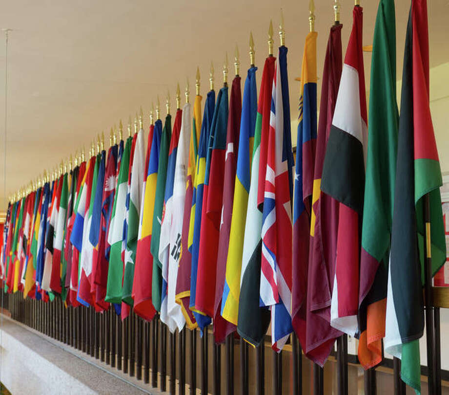 International flags at SIUE Photo: For The Intelligencer