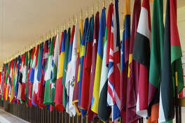 International flags at SIUE