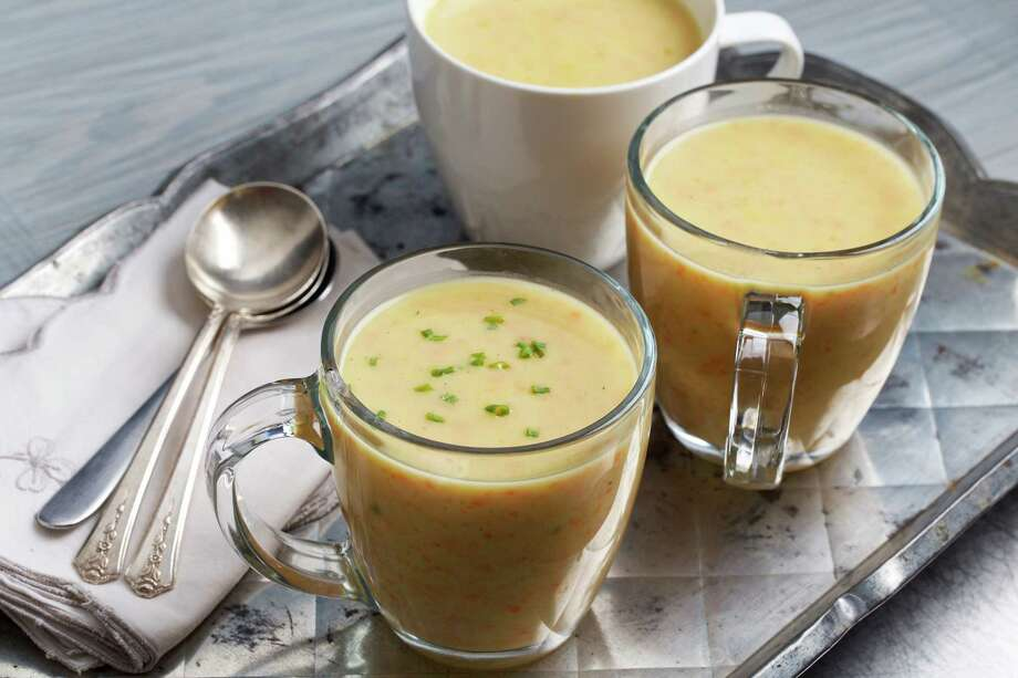 Alsatian Leek and Carrot Soup with Semolina. Photo: Photo By Deb Lindsey For The Washington Post. / The Washington Post