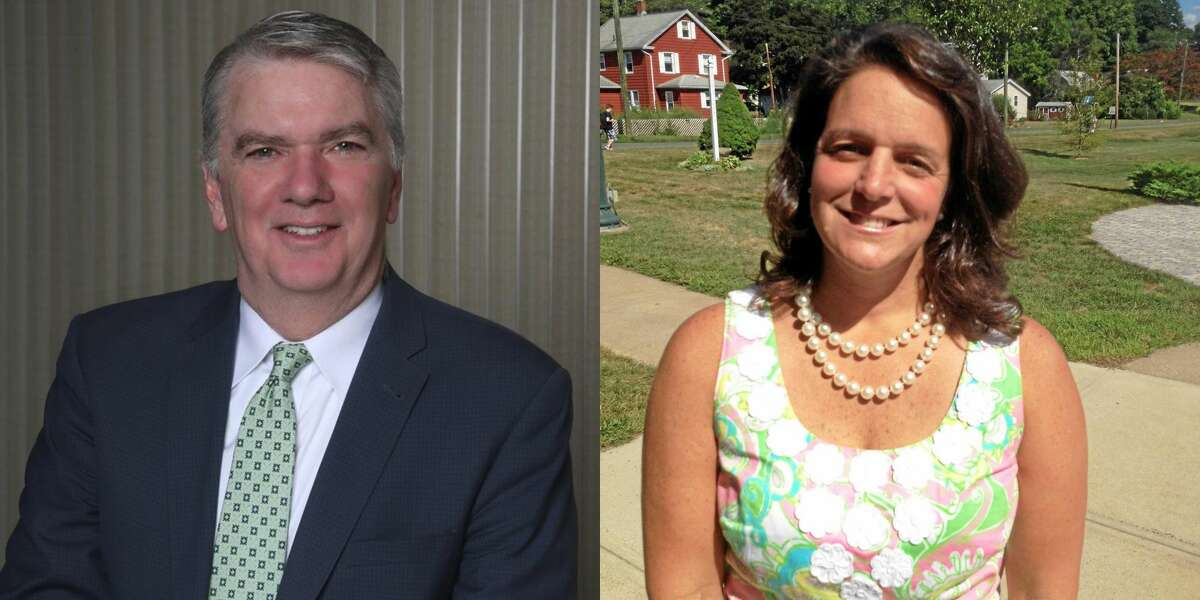 Cromwell Superintendent of Schools John T. Maloney (left) andAssistant Superintendent Krista Karch