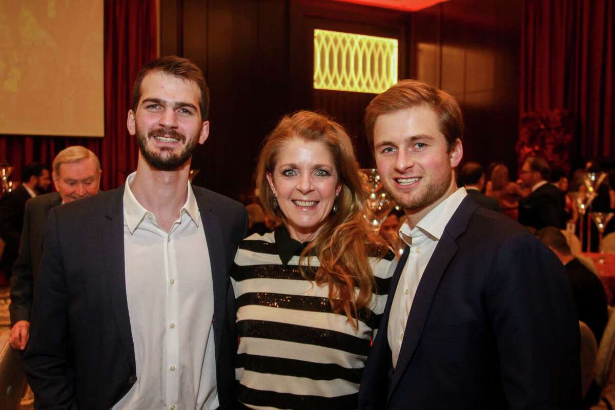 Michael, from left, Paige, and Patrick Fertitta at the
