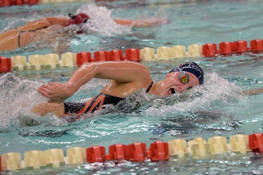 Beth McNeese of Seven Lakes competes during the girls 200 yard freestyle at the District 19-6A Swimming and Diving Championships on January 27, 2018 at the Katy HS Natatorium, Katy, TX. Photo: Craig Moseley, Staff / Houston Chronicle / ©2018 Houston Chronicle