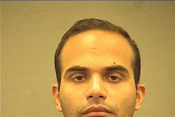 George Papadopoulos' booking photograph taken after his arrest at the Alexandria Detention Center in Virginia on July 28.