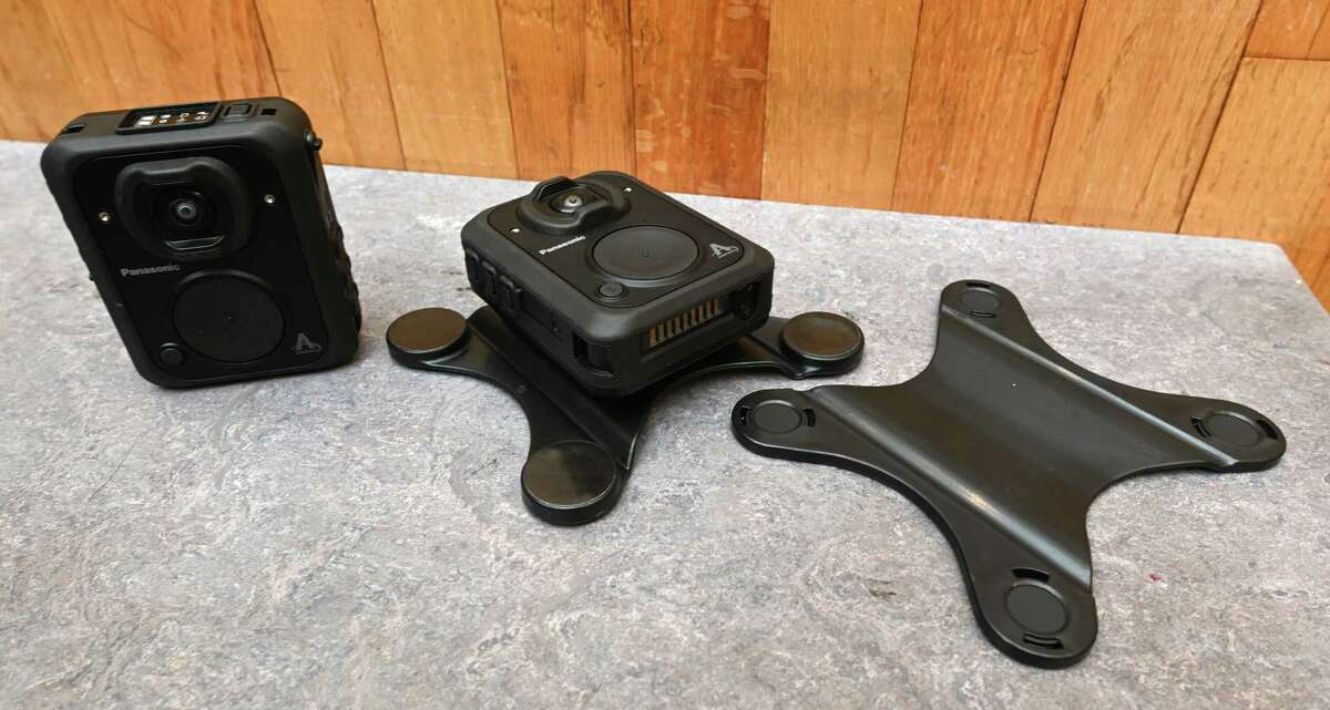 The Panasonic MK3 Arbitrator Body Cams which has been which was chosen for the members of the Schenectady Police Department after an exhaustive study of many of the body cam units was on display for the media at the stationTuesday Dec. 11, 2018 in Schenectady, N.Y. (Skip Dickstein/Times Union)