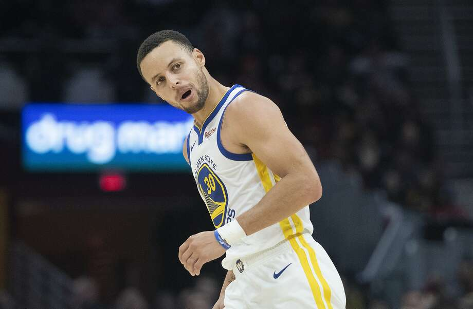 Stephen Curry of the Warriors scores 42 against the Cleveland Cavaliers during Wednesday nights game as the Warriors face the Cavaliers at Quicken Loans Arena in Cleveland on December 5, 2018.  (Kyle Lanzer/Special to The San Francisco Chronicle) Photo: Kyle Lanzer/Special To The San Francisco Chronicle)