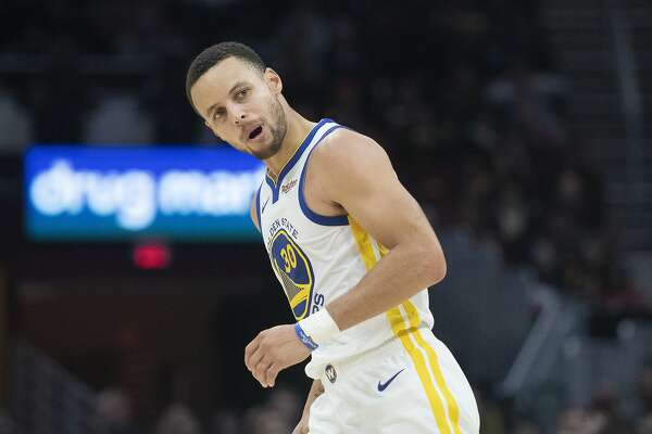Stephen Curry of the Warriors scores 42 against the Cleveland Cavaliers during Wednesday nights game as the Warriors face the Cavaliers at Quicken Loans Arena in Cleveland on December 5, 2018. (Kyle Lanzer/Special to The San Francisco Chronicle)