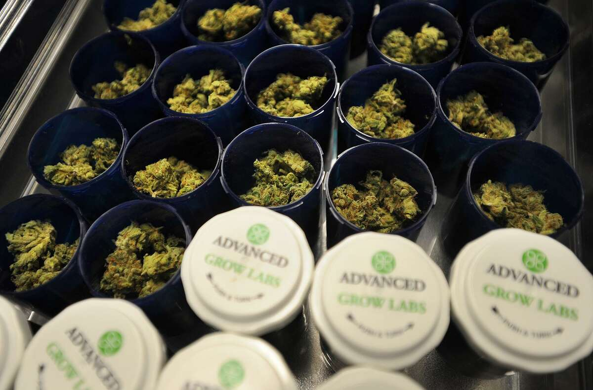 Packaged medical marijuana at Advanced Grow Labs in West Haven.
