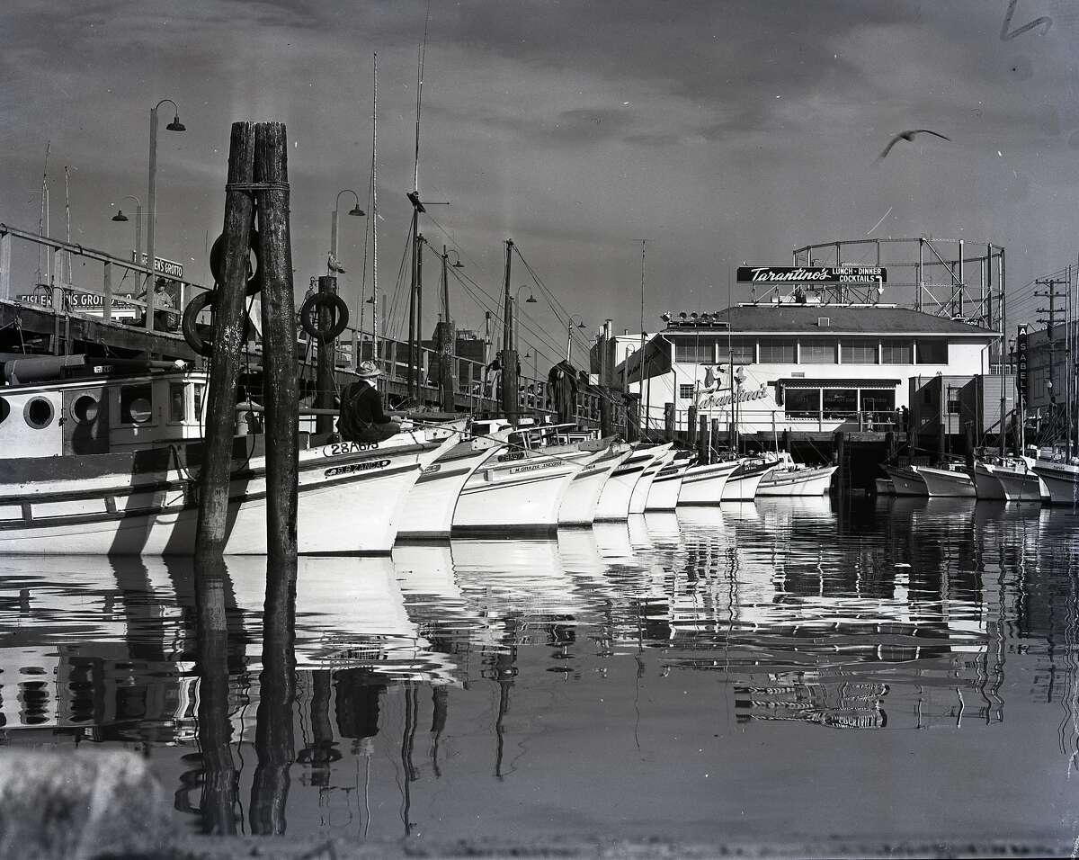 boats at Fisherman's Wharf, September 5, 1952