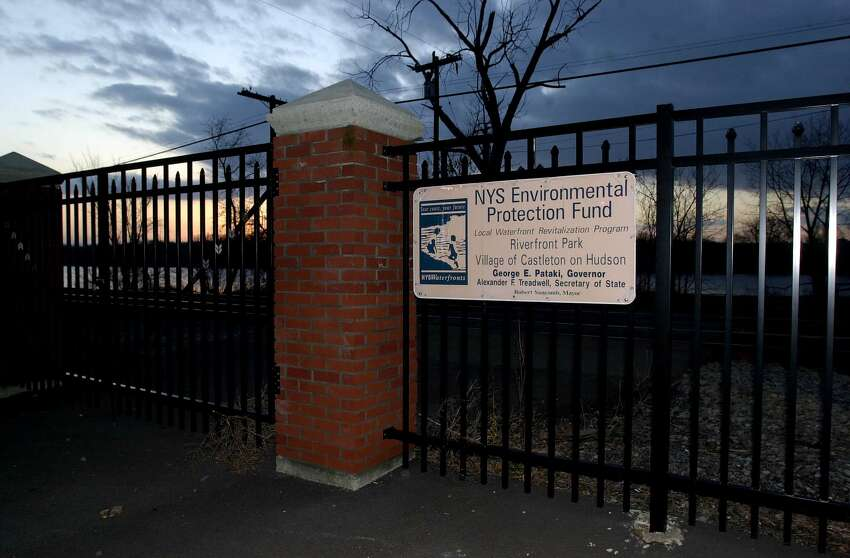Officials from Rensselaer, Columbia and Dutchess counties will meet Saturday to discuss a proposal by Amtrak to block off seven pedestrian crossings to the Hudson River. Show here is the Riverfront Park in Castleton-on-Hudson, will was gated off by Amtrak in the mid-1990s to reduce the risk of people being hit by high-speed trains. Village officials have been working to get pedestrian access restored ever since. (Times Union Archive)