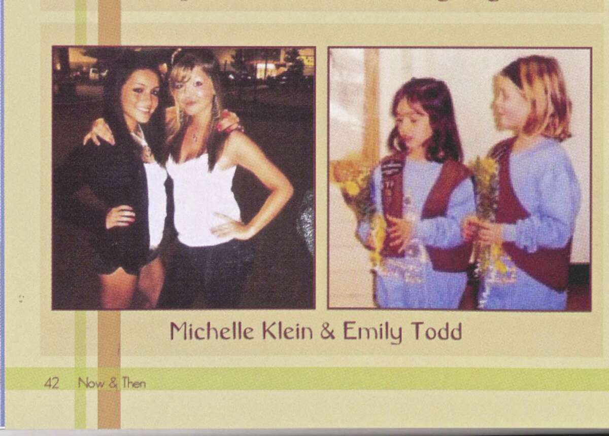 Emily Todd with childhood friend Michelle Klein in the Bethel High School 2011 yearbook.