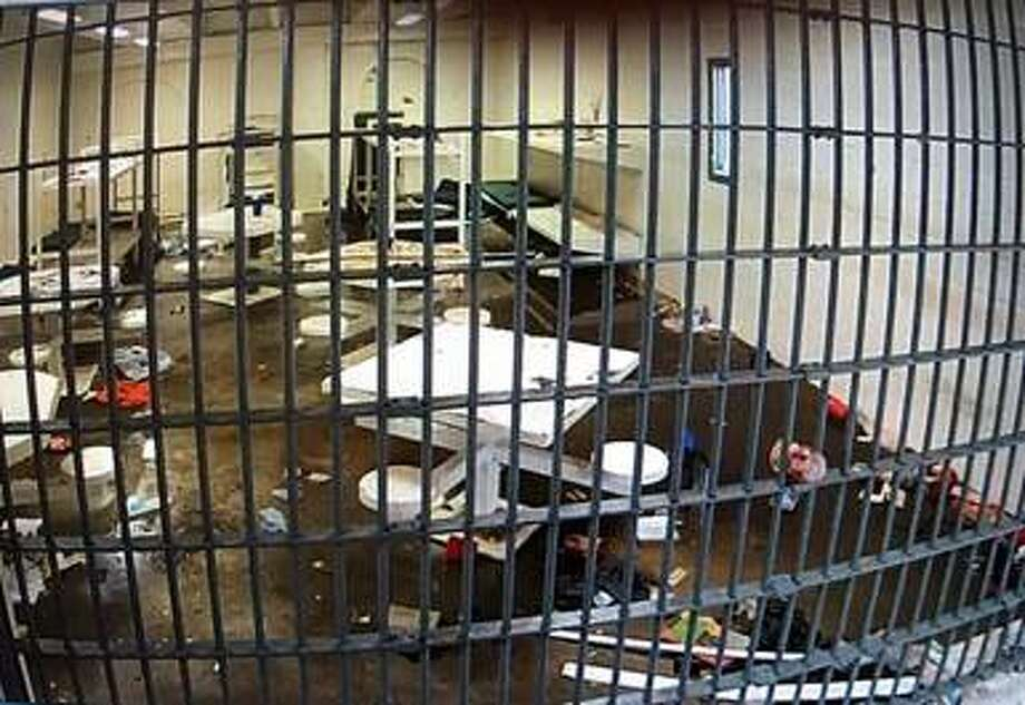 Authorities said a riot was created by Mexican Mafia gang members incarcerated at the Webb County Jail on Tuesday morning. Photo: Webb County Sheriff's Office
