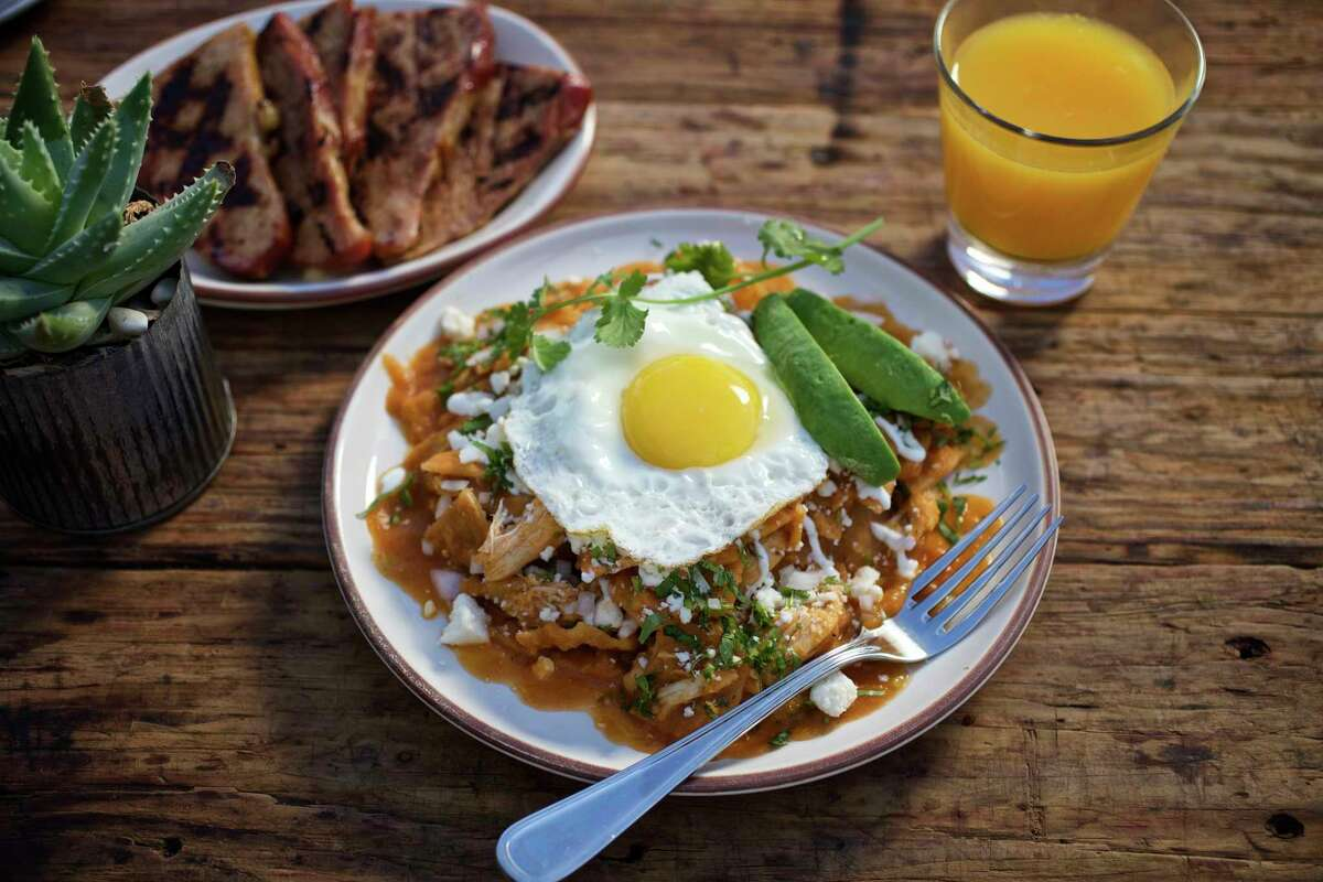 GOODE CO. KITCHEN & CANTINA Goode's newest concept, Kitchen & Cantina, is now offering weekend breakfast at its Memorial location. Egg dishes (huevos rancheros, chilaquiles, migas), pecan waffles and eggs, pancakes, omelets and enchiladas with eggs are on the menu along with classic Goode-for-you sweets: churros, sopapillas, tres leches, chocolate cream pie and the famous Brazos Bottom Pecan Pie. Great cocktails list, too. Goode Co. Kitchen & Cantina, 9005 Katy Freeway, 713-766-3434; kitchenandcantina.com  Where: 9005 Katy Freeway, 713-766-3434; kitchenandcantina.com What: Goode Co.'s newest concept is now offering breakfast service at its Memorial location with a full lineup of Mexican egg dishes and other brunch favorites. It's offered on weekends from 7:30 a.m. to noon.