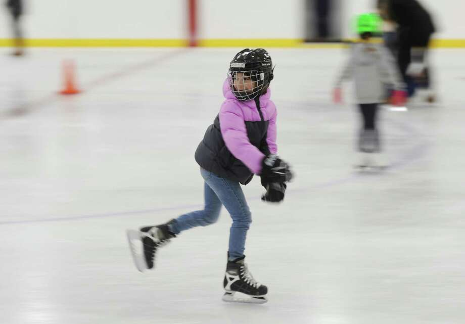 Under proposed fee increases, the Hamill Rink would charge $7 per session for kids ages 5 to 15 and $10 for skaters ages 16 to 64. Photo: File / Tyler Sizemore / Hearst Connecticut Media / Greenwich Time
