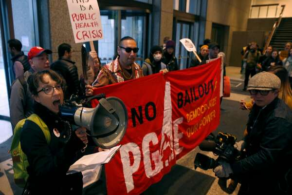 Protesters march on PG&E offices amid Camp Fire fallout