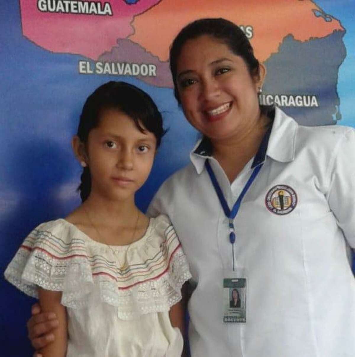 Alison, 11, is pictured here in El Salvador. The girl and her brother are in government custody after they were separated from their father at the border when the government accused him of being in a gang. The father denies it, saying he fled El Salvador because he was being targeted by gang members who tried to extort him.