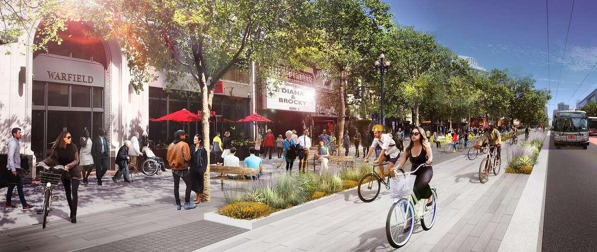 Rendering of Market Street improvements