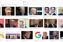 """Google returns images of President Donald Trump when a user searches for the word """"idiot."""""""