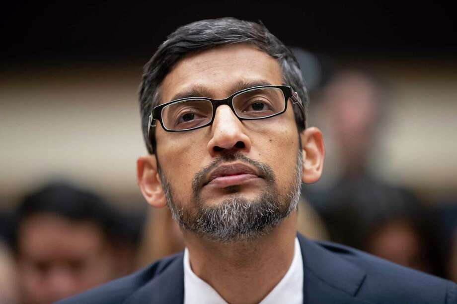 Google CEO Sundar Pichai appears before the House Judiciary Committee to be questioned about the internet giant's privacy security and data collection, on Capitol Hill in Washington, Tuesday, Dec. 11, 2018. Pichai angered members of a Senate panel in September by declining their invitation to testify about foreign governments' manipulation of online services to sway U.S. political elections. (AP Photo/J. Scott Applewhite) Photo: J. Scott Applewhite / Copyright 2018 The Associated Press. All rights reserved