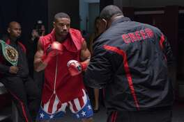 "This image released by Metro Goldwyn Mayer Pictures / Warner Bros. Pictures shows Michael B. Jordan in a scene from ""Creed II."" (Barry Wetcher/Metro Goldwyn Mayer Pictures/Warner Bros. Pictures via AP)"