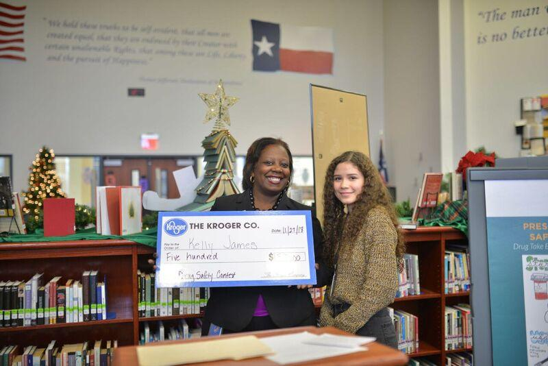Atascocita High School student wins $500 drug safety PSA contest from Kroger