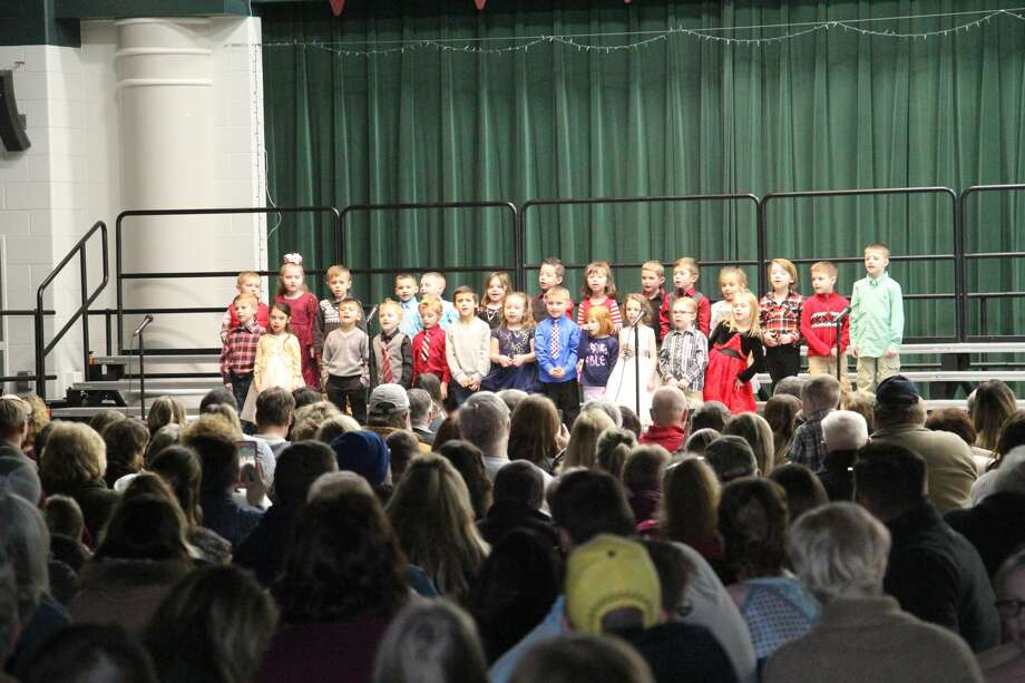 Laker Elementary School students in grades DK-2nd performed their Christmas Program, Tuesday evening. Photo: Seth Stapleton/Huron Daily Tribune