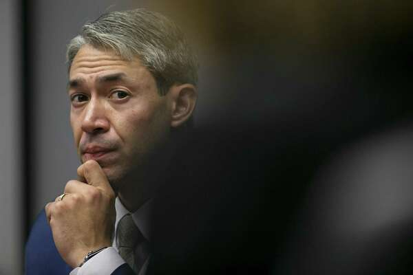 Mayor Ron Nirenberg listens to a council member speak during a session of San Antonio City Council in the Council Chambers, Wednesday, Sept. 12, 2018. At the session the City Council was briefed and offered policy guidance on the creation of an ordinance regulating e-scooters.
