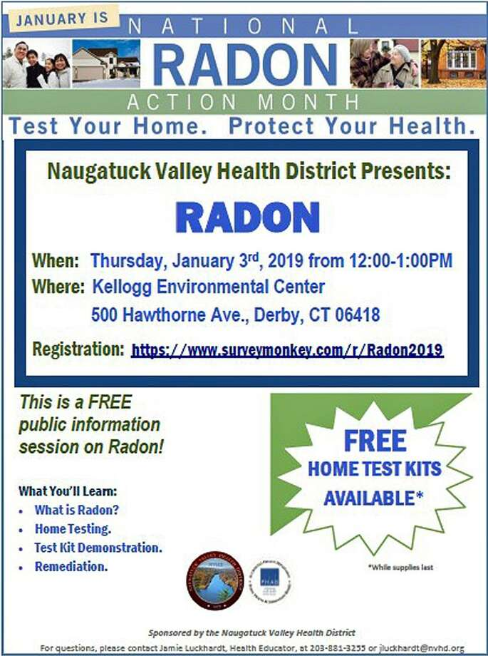 "Naugatuck Valley Health District will host a ""lunch and learn"" at the Kellogg Center at 500 Hawthorne Ave. in Derby, Conn., on Jan. 3, 2019, from noon to 1 p.m. Photo: Contributed Photo / Naugatuck Valley Health District / Contributed Photo / Connecticut Post Contributed"